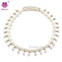 Wholesale Pearls Waist Belts - 2016 New Hot Sale Fashion Women Belt White Pearl Belt Bling Simple Ladies Weave Waist Wedding Dress Cummerbunds Jewelry BL-777