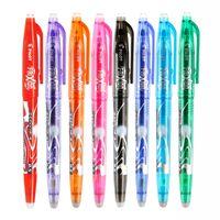 Wholesale Pilot Erasable - Wholesale-8 Pcs lot Brand Pilot Frixion Pen LFB-20EF Erasable Gel Ink Pen Medium Tip 0.5 mm PILOT LFB - 20 EF LFBN-20EF pen FREE Shipping