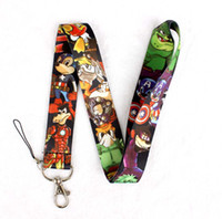 100pcs La Ligue Avengers Personnage Cartoon Neck Lanyard mobile Multicolor Téléphone Accessoires de téléphone cellulaire caméra ID Card Neck bretelles Lanyard