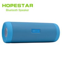 Wholesale P4 Led - HOPESTAR P4 Waterproof Bicycle Wireless Bluetooth Car Speaker With LED Flashlight Charge Power Bank Bike Mount Holder TF FM