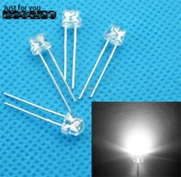 Wholesale Leds Water Clear - Wholesale-led 5mm straw hat white leds Light Emitting Diodes 4.8mm Water Clear ultra bright Wide Angle LED 1000pcs lot