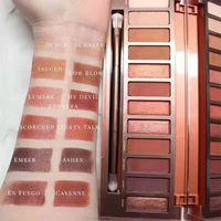 Wholesale Eye Shadow Naked - 2017 New Makeup Naked Heat Palette Eye Shadow Palette 12 color Eyeshadow High quality Free shipping 1pcs