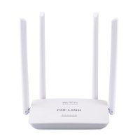 ingrosso router inglese wifi-Router WiFi 300Mbps con 4 antenne Firmware inglese Ripetitore Wi-Fi Extender 5 Porte RJ45 802.11N Easy Setup PIXLINK WR08
