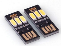 Wholesale mini touch computer - Portable Mini USB Power 6 LED Lamp 1W 5V Touch Dimmer Warm pure white Light for Power Bank Computer Laptop
