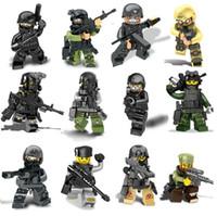 Wholesale Swat Team - 480pcs lot swat team figures building block tygh