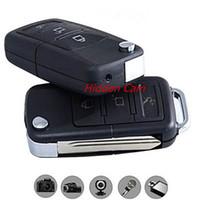 Wholesale Mini Camera Keyring - 1PCS Spy Mini DV Key Chain Hidden Camcorder Record Keyring Recorder Motion Detection Detector Pocket DV Car Keys Micro Camera DVR