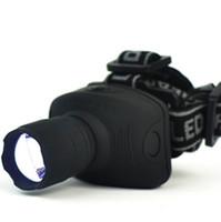 кемпинговые факелы оптовых-600 Lumens LED Headlight Frontal Lantern Zoomable Head Torch head lights for fishing camping hiking free shipping