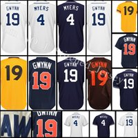 Wholesale tony short - stitched #19 Tony Gwynn 4 Wil Meyers jersey Men Tony Gwynn Wil Meyers Baseball jerseys Cheap wholesale