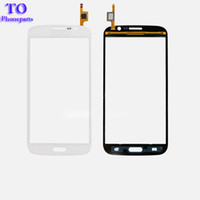 Wholesale galaxy mega digitizer - Touch Screen Digitizer Panel Glass With Duos For Samsung Galaxy Mega 5.8 i9150 i9152 with Logo,Black White