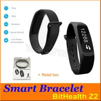 Wholesale Cheapest Iphone Display - Cheapest Bithealth Z2 0.91 inch OLED display panel Smart sport bracelet watch Bluetooth wristband data sync For android IOS iphone DHL 50pcs