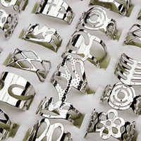 zink versilbert schmuck großhandel-Einstellbare Größe Versilbert Zink-Legierung Fingerringe Zehenring für Frauen und Männer Mix Style Großhandel Schmuck Lot LR129