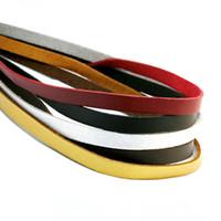 cabo de couro 8mm venda por atacado-Atacado-cor misturada Preto Marrom 100 CM 8mm Plana Faux Camurça Cordão De Couro De Veludo Coreano corda Rope Thread Lace Achados FXU004-02
