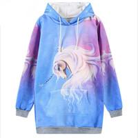 Wholesale Newest Brand Hoody - Unicorn Hoodie Newest Sleeve Jumper Punk Hoody Women Brand Sweatshirt Pullovers Top Jumper Hoodies Sweatshirts