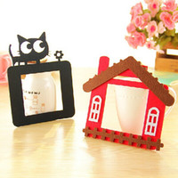 Wholesale Cheapest Wall Stickers - CHEAPEST!!Cartoon Hollow Light Switch Cover Vinyl Decals Wall Stickers Felt Cover new year Valentine's day Decor