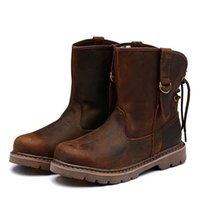 Wholesale Crazy Motorcycle - Men Women Winter outdoor crazy horse Cow leather Motorcycle western cowboy desert hunting army combat military boots,36-44