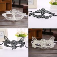Wholesale Top Halloween Costumes For Women - Wholesale- Top Grand Black White Women Sexy Lady Lace Eye Mask Party Masks For Masquerade Halloween Venetian Costumes