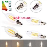 Edison Filament Led Kerze Lampe 2W 4W 6W E14 E12 Led Birnen Licht High Bright 120LM / W Warm White 2700K Led Lampe.