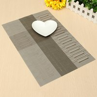Wholesale Table Runners Europe - Wholesale- Elegant European Style PVC Polyester Heat Insulation Placemat Dining Table Runner Place Mat Kitchen Cup Wine Mat Coaster