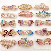 Wholesale Luxurious Diamond Ships - DHL free Shipping Fashion Diamond Hair Clip For Women Luxurious Girls Hair Accessories Trendy Hairs Accessoires Jewelry