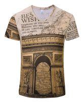Wholesale Wholesale High Fashion Men Clothing - Wholesale-2016 New Arrival t shirt men summer casual clothing short sleeve tshirt Man T-shirts Ancient castle Fashion Design High Quality