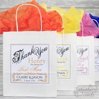 Wholesale Personalised Bag - wedding decorations party Personalised Wedding Favour Party Gift Bag Coloured Tissue Paper Party decoration wedding gifts for guests