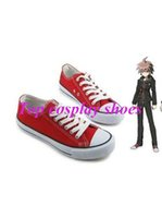 Wholesale Naegi Makoto Cosplay - Wholesale-Freeshipping Dangan Ronpa Makoto Naegi Cosplay Shoes #57812 hand made Custom made for Halloween Christmas