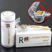 zgts titan derma micro nadel großhandel-ZGTS Titan Micro Nadel Therapie Derma Roller Hautpflege Akne Narbe Sommersprosse Multi Größe