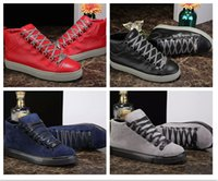 Wholesale Male Toe - New Good Quality High Top Man Arena Shoes Flat Luxury Brand New Designer Casual Shoes Hip Hop Male Chaussures Outdoors Size 38-46