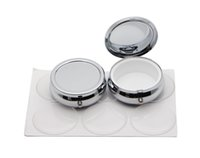 Wholesale Travel Pill Containers - 5pcs 42mm Pill Box Case With Epoxy Sticker-Blank Compartment Pill Box Container-Round Travel Pill Box #PY01S FREE SHIPPING
