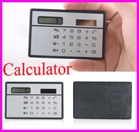 Alimentación De La Tarjeta De Crédito Baratos-Solar Card Calculator Mini Calculadora Solar-powered Contador Mini Slim Tarjeta de Crédito Energía Solar Pocket Ultra-delgada Calculadora