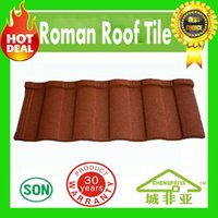 Wholesale Roofing Material Tile - building material hot selling colorful stone coated metal roofing tiles