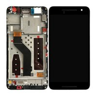 Barato Nexus Digitalizador Reparação-Para o Huawei Google Nexus 6P H1511 H1512 Visor LCD Touch Screen Digitizer + Frame 5.7inch No Dead Pixels Screen Repair Parts