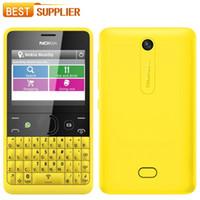 Wholesale Daul Core - Unlocked Original NOKIA Asha 210 Mobile Phone Daul SIM Card 2mp camera keyboard WiFi GSM refurbished cell phones