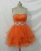 Wholesale Grasp Fold - The spring and autumn new orange multi-level fluffy skirt sexy bra back strap waist seam bead grasp fold cheap shipping jacket
