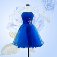 Wholesale Trendy Corset Dresses - 2017 Trendy Short Bridesmaid Dresses A Line Strapless Sweetheart Ruffle Beads Junior Bridesmaid Dresses Mini Corset Prom Dresses Bridesmaid