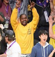 mode gelb t-shirts männer lang großhandel-KANYE WEST Ich fühle mich wie Kobe Brief drucken T-Shirts / Langarm-O-Neck gelbe Männer Casual T-Shirts / Hip Hop Mode lose Liebhaber T-Shirts S-3XL