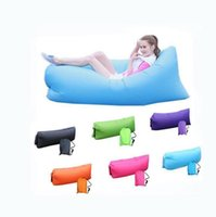 Wholesale Envelopes Bags - Fast Inflatable Air Sleeping Bag Waterproof Lazy Sofa Bed Festival Camping Hiking Travel Hangout Beach Bag Bed Camping Banana Couch