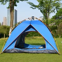 Outdoor Camping Tenda Tende Auto Tende Impermeabili Per Escursioni all'aperto Camping Escursionismo Pesca 3-4 Persone Usa Multi Color