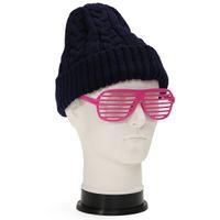 Wholesale Male Wigs White - Wholesale-Salon White Mannequin Wig Cap Hats Holder Glasses PVC Men Male Head Stand Manikin Model Display Tools