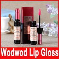 Wholesale Brand Liquid Bottle - Wodwod Brand Lip Makeup New Bottle of Red Wine Lipgloss Pink Lip Long Lasting Matte Lipstick Waterproof Lip gloss Liquid In Stock Hot