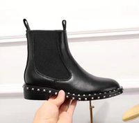 Wholesale mixed color rubber band - high quality~ u753 40 black genuine leather flat short boots it must have stylish fashion