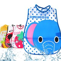 Wholesale Newborn Boys Cloths - Cartoon Baby Bibs Eva Waterproof Newborn Bandanas Feeding Baby Burp Cloths Girls Boys Saliva Towel Print Apron