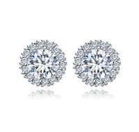 Wholesale Top Beautiful Rings - Top quality copper AAA zircon Engagement Wedding Diamond Stud Earring CZ Simulated Diamonds Fashion Beautiful Fine Jewelry Diamod Ear rings