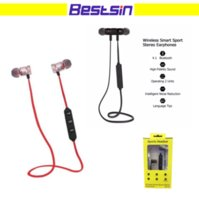 Wholesale Sweat Sport - Magnet Metal Sports Bluetooth Headset CSR 4.0 Stereo Waterproof Sweat-proof Running GYM Sport Earphone with mic for Mobile Phone Calls
