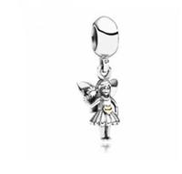 Wholesale pandora dangle girl charm - Fit Pandora Charm Bracelet European Silver Charms Angel Girl Pendant Spirits Dangle Beads DIY Snake Chain For Women Bangle Necklace Jewelry
