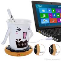 Wholesale Tea Cup Warmer Electric - Creative Silicone Donut Electric Insulation Coaster USB Cup Warmer Tea Warmer Office Tea Coffee Beverage USB powered Heater Mat
