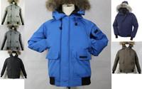 Wholesale Short Wind Coat - goose down jacket men's thicken wind proof keep warm rain proof short goose down winter coats 6 colors available
