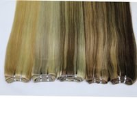 Wholesale 100 Body Wave Human Remy Hair Extensions P27 P8 P10 P18 Brazilian Piano Color Straight Weaving Weft quot quot