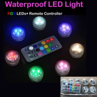Wholesale Remote Control Underwater - Underwater Flickering Flicker Flameless LED Waterproof Candles Light with Remote Control Operated Wedding Birthday Party Xmas Gift Wholesale