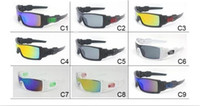 Wholesale Wholesale Conjoined - 50pcs Mens Dazzle Conjoined Outdoor Sports Cycling Sunglasses New Brand Designer OILRIG Ski Gycling Goggles 9 Colors J009